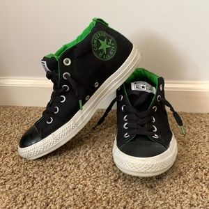 Converse Black & Green Hi Street sneakers 6